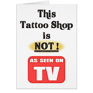 Tattoo Shop not TV Card