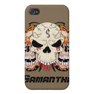 Tattoo Skull Eight Ball iPhone 4/4s Speck Case Case For iPhone 4