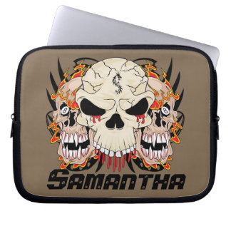 Tattoo Skull Eight Ball Laptop Protective Case