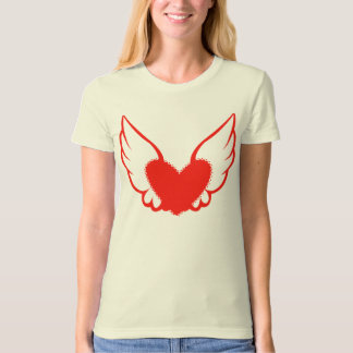 Tattoo Style Artistic Winged Heart T-shirt