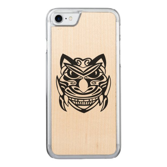 Tattoo Style Mask 1 Carved iPhone 8/7 Case