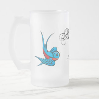 Tattoo Swallow BestMan Wedding Favor Mug