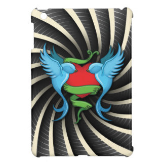 Tattoo Swallows Love Heart Wind Bars iPad Mini Cover