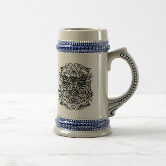 Tattoo tribal owl beer stein