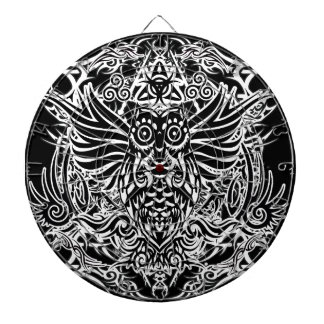 Tattoo tribal owl dartboard