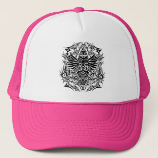 Tattoo tribal owl trucker hat