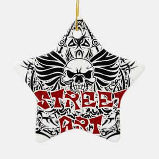 Tattoo tribal street art ceramic ornament