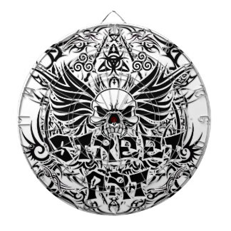 Tattoo tribal street art dartboard