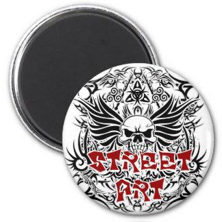 Tattoo tribal street art magnet