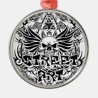 Tattoo tribal street art metal ornament