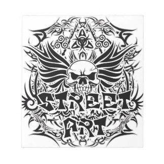 Tattoo tribal street art notepad