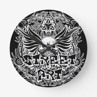 Tattoo tribal street art round clock