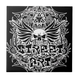Tattoo tribal street art tile