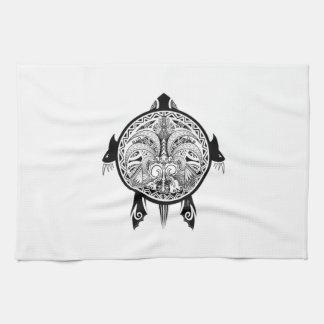 Tattoo Tribal Turtle Kitchen Towel
