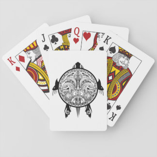 Tattoo Tribal Turtle Playing Cards