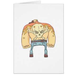 Tattooed Dangerous Criminal Outlined Comics Style Card