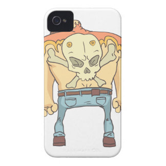 Tattooed Dangerous Criminal Outlined Comics Style iPhone 4 Cover