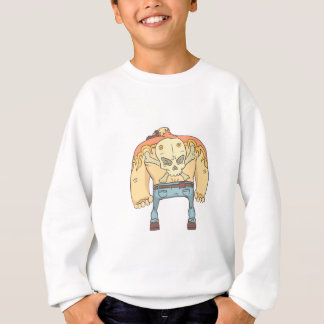 Tattooed Dangerous Criminal Outlined Comics Style Sweatshirt