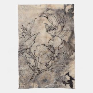 Tattooed Floral I Kitchen Towel