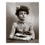 Tattooed Lady, 1907. Vintage Photo Poster
