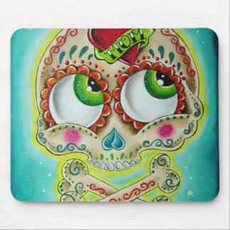 Tattooed sugar skull mouse pad