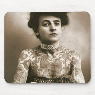 Tattooed with Pearls Mouse Pad