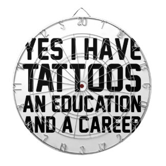 Tattoos Education & a Career Dartboard