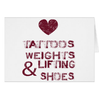 tattoos weights shoes female card