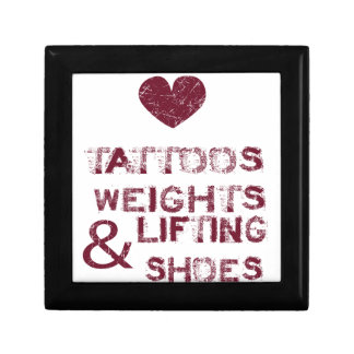tattoos weights shoes female jewelry box