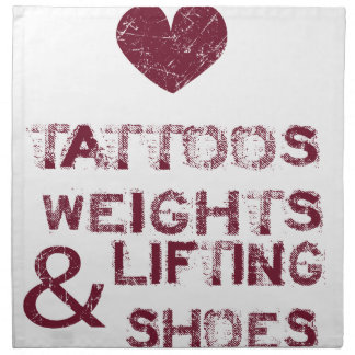 tattoos weights shoes female napkin