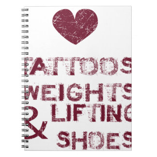 tattoos weights shoes female notebook