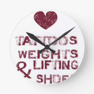 tattoos weights shoes female round clock