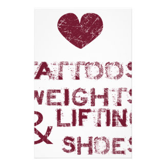 tattoos weights shoes female stationery