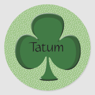Tatum Shamrock Name Sticker / Seal