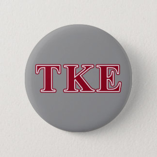 Tau Kappa Epsilon Red Letters 2 Inch Round Button