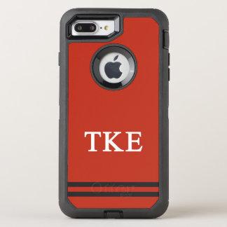 Tau Kappa Epsilon   Sport Stripe OtterBox Defender iPhone 8 Plus/7 Plus Case