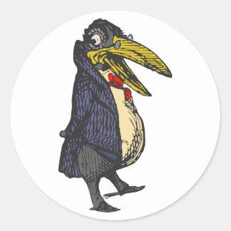 taught rabe academic to raven round sticker