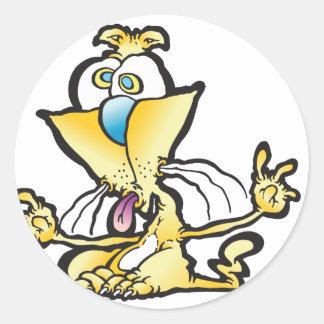 taunter_cat round sticker