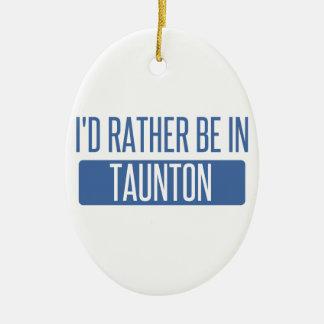 Taunton Ceramic Ornament