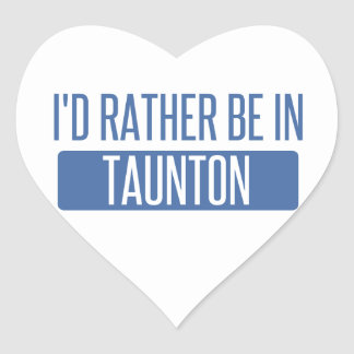 Taunton Heart Sticker