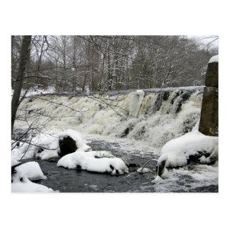 Taunton River Waterfall Postcard
