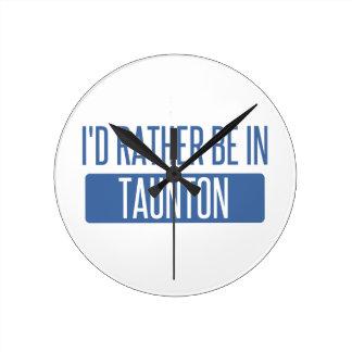Taunton Round Clock