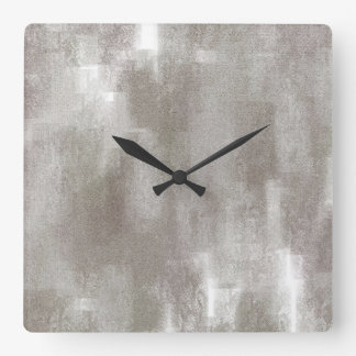 Taupe Abstract Wall Clock