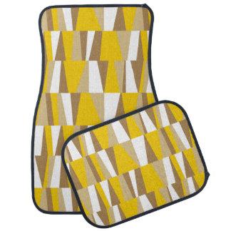 Taupe abstrait géométrique de brun jaune des tapis de voiture