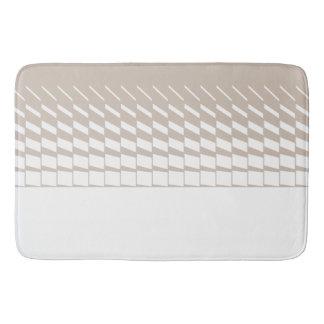 Taupe geometric kinetic art graphics bath mat