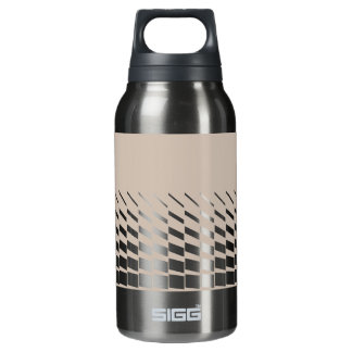 Taupe geometric kinetic art graphics insulated water bottle