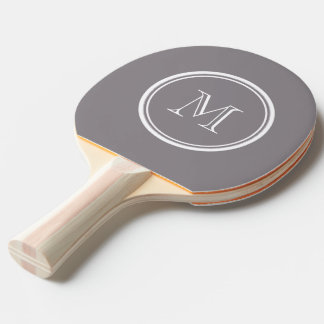 Taupe Gray High End Colored Personalized Ping-Pong Paddle