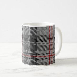 Taupe Grey Red Black Giant Tartan Plaid Coffee Mug