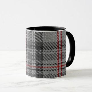 Taupe Grey Red Black Giant Tartan Plaid Mug