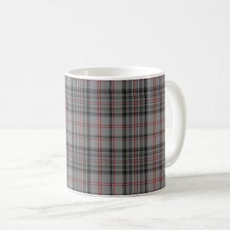 Taupe Grey Red Black Small Tartan Plaid Coffee Mug